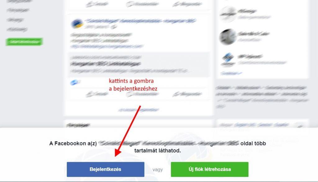 Facebook belépés a Google keresőből