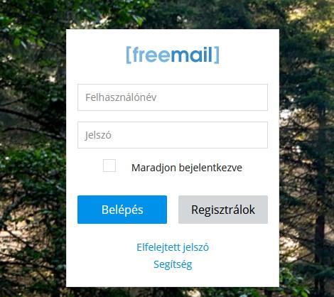 freemail belépés felülete