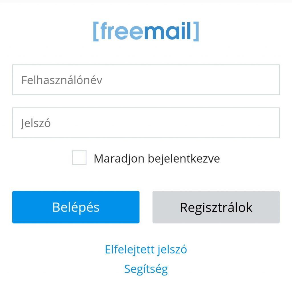 freemail bejelentkezés mobil felületen
