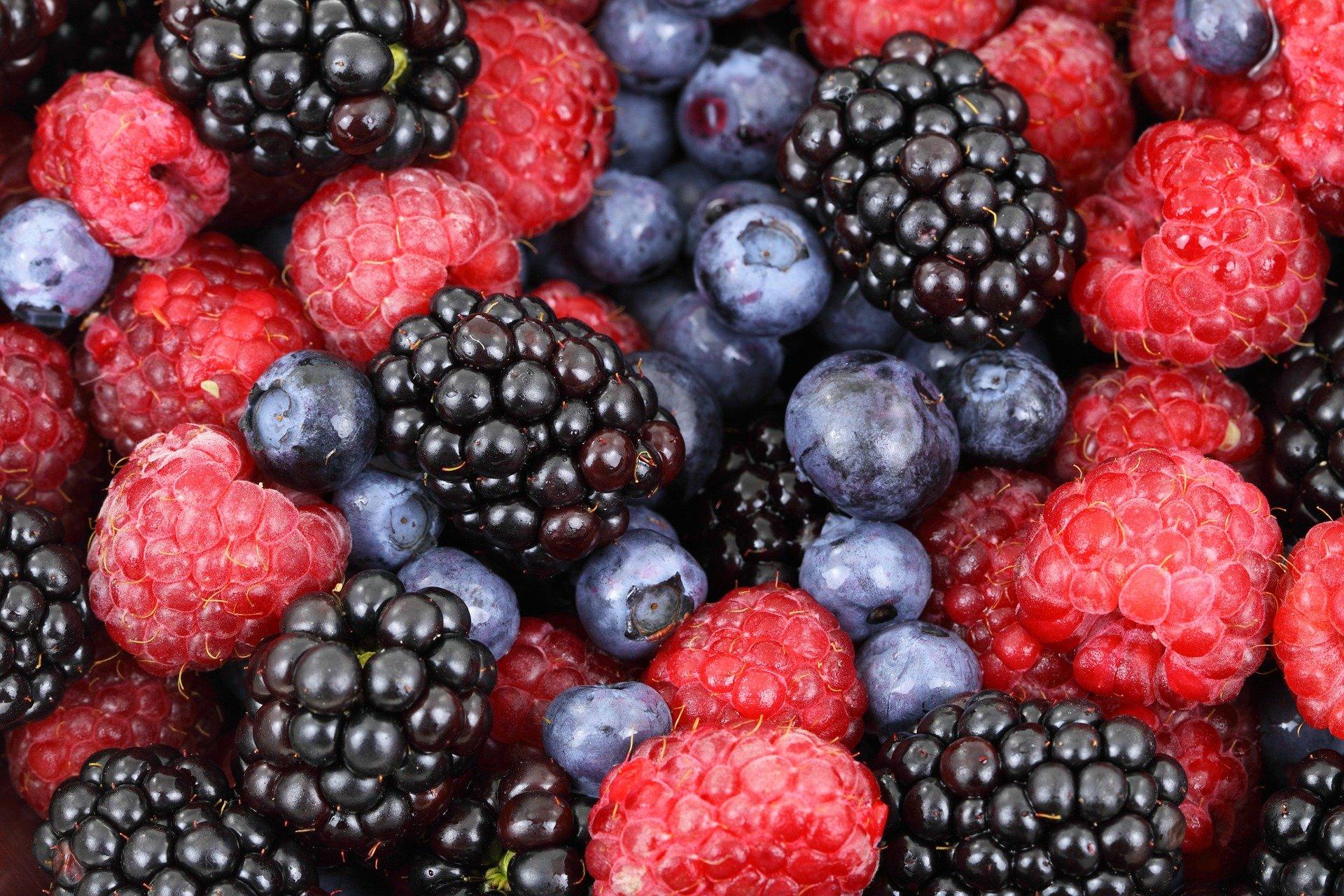 egészséges gyümölcsök egymás mellett