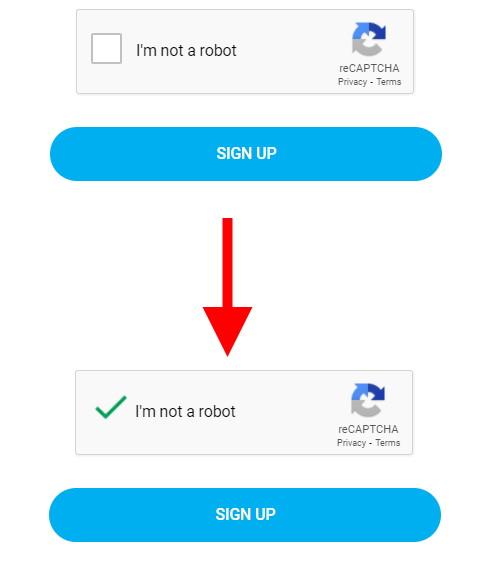 OnlyFans regisztráció CAPTCHA védelemmel