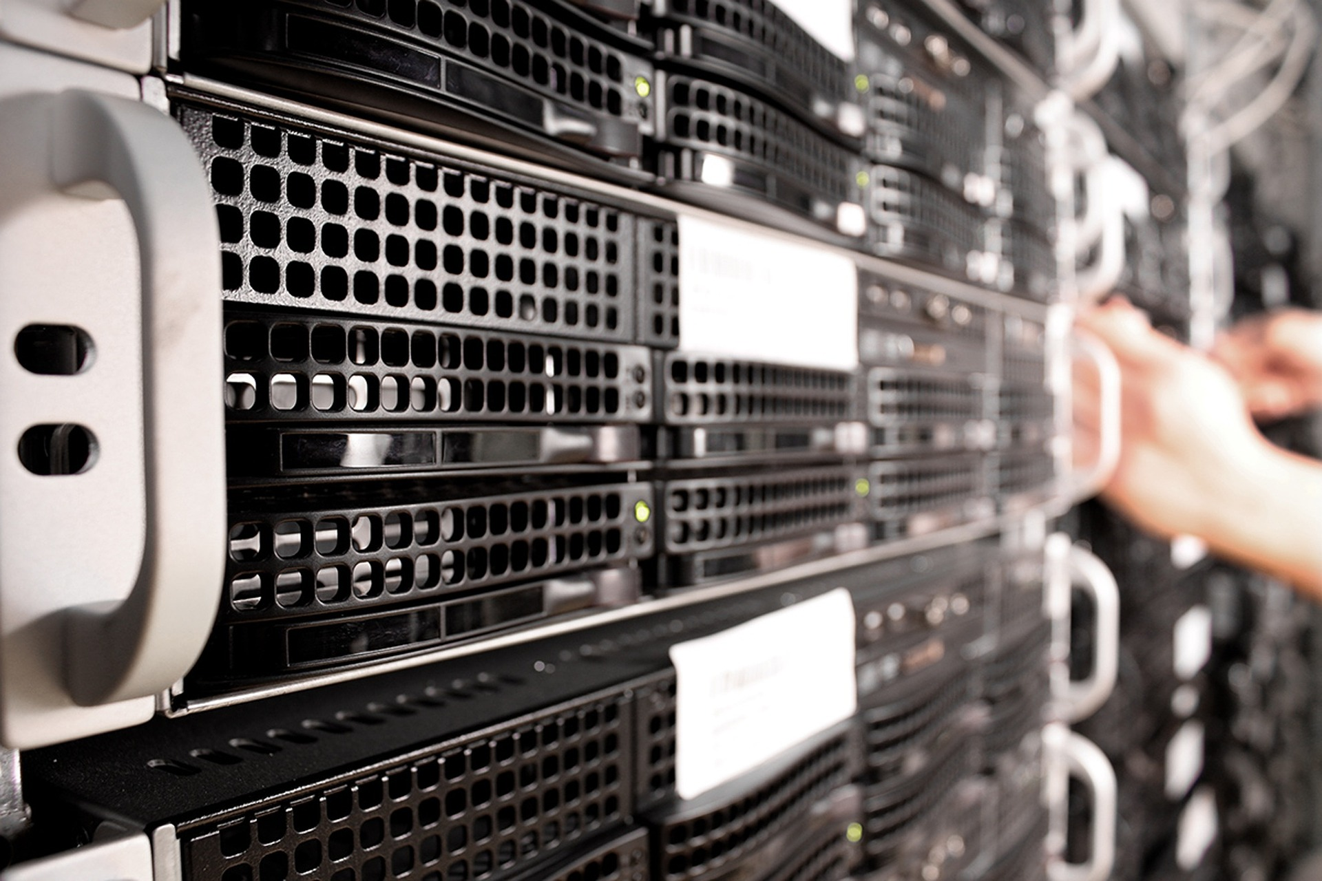 szerverek a Bluehost adatközpontjában