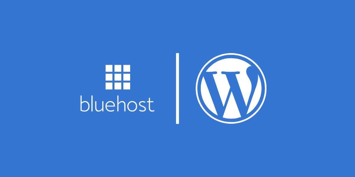 BlueHost tárhely és WordPress logó